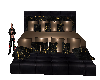 Black & Gold Poseles Bed