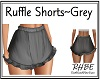 RHBE.Ruffle Shorts Grey