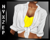 Tied Shirt & Bra Yellow