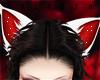 J! White Red Cat Ears