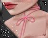 !D! Lace Choker Pink