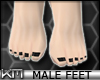 +KM+ Male Feet Black