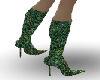 Emerald Glitter Boot