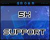 G|5k Support Sticker