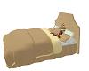 Beige Queen size Bed