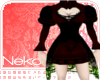 gothic dress black/red