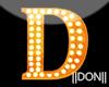D Orange Neon Lamps
