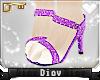 *D* Purple Glitter Heels