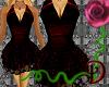 [D]Short Red Black Dress