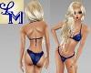 !LM Curvy Blue Bikini PB