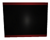 black wall w/ red trim