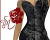 (Y) Goth Satin Dress