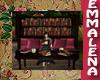 Bookcase Bench Burgundy
