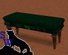 Green velvet bench