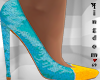Blue, Yellow, heels