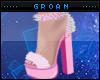 A| Hot Pink Fur Heels