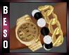 Gold Bracelet W/ Watch