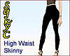 High Waist Black Skinny