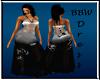 BBW Rosa Blk/White gown