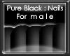 +vkz+ Pure Black : Nails