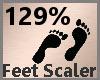 Feet Scaler 129% F A