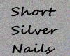 *silver* short nails