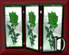 Emerald rose screen