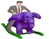 PURPLE BALANCE ELEPHANT