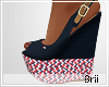 Hilfiger blue wedges