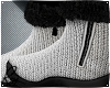White Wool Fur Boots