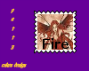 fire farie stamp