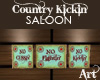 Country Kickin' Bar Art