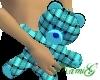 ~K~ Blue weave teddy