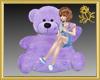 Xtra Purple Teddy Seat