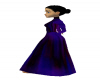Purple & Blue Goth Gown