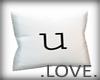 .LOVE. Letter u Pillo