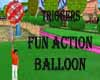 Red Fun Action  Balloon