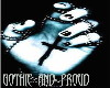 gothic and proud sticker