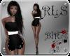 [BIR]Choker Dress B&W