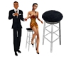 Singers Duet Stage Stool
