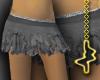 Ripped Ruff Skirt Slate
