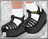 Black Jellies With Socks