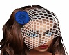 bluerose fishnet veil