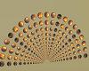 black,orange lighted fan