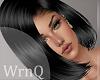 !Dark Black Silk Hair