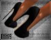C79|Diamon Black Shoes