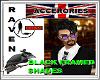 """""""RG"""" BLACK RIMMED SHADES"""