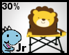 30% Lion camping chair