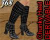 J68 Chunky Heel Boots