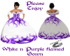 white&purple flamed gown